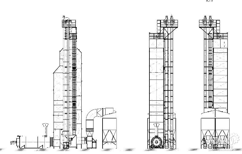 Зерносушилка шахтная  RIR-30C дизель, косвенный нагрев