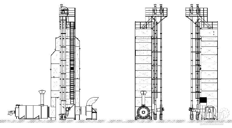 Зерносушилка шахтная  RIR-20C газ, косвенный, нагрев