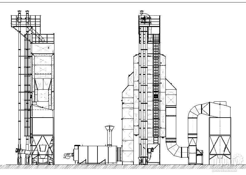 Зерносушилка шахтная  RIR-20У дизель, косвенный нагрев