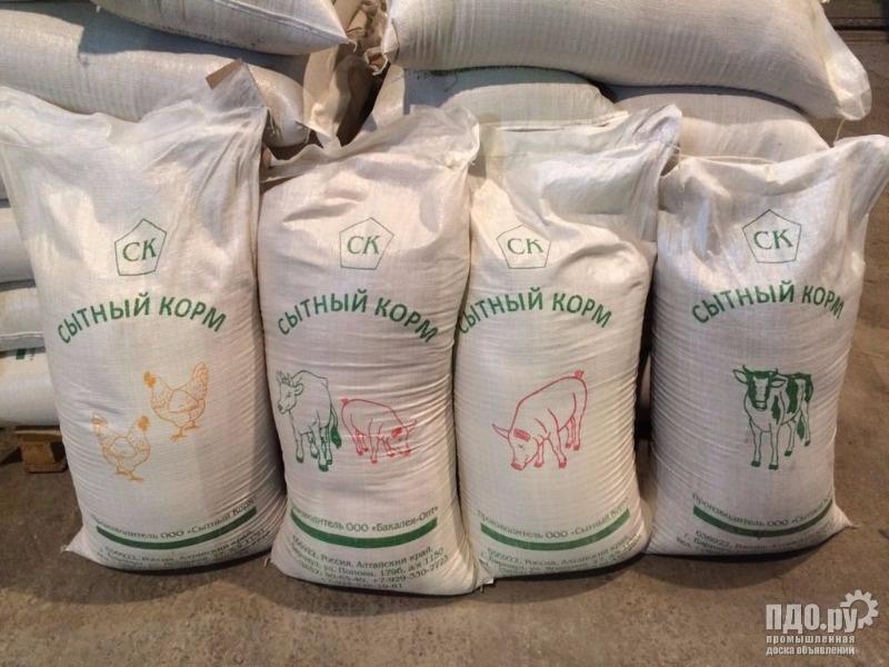 Корм/зерносмеси для сх животных