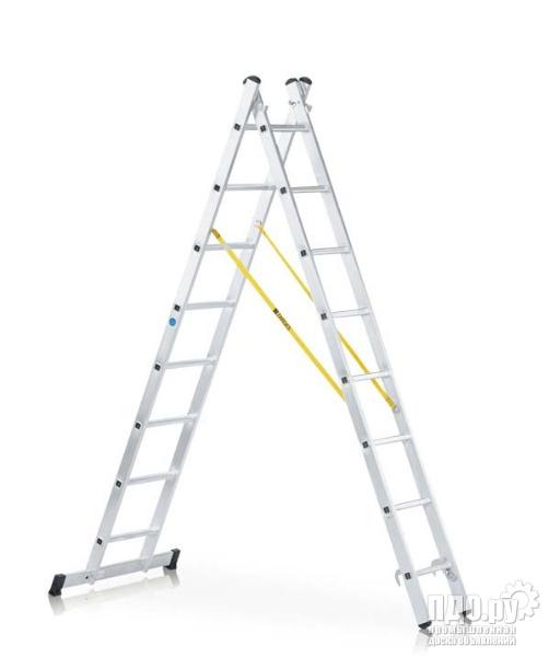 Лестница комбинированная двухсекционная алюминиевая пр-во Германии