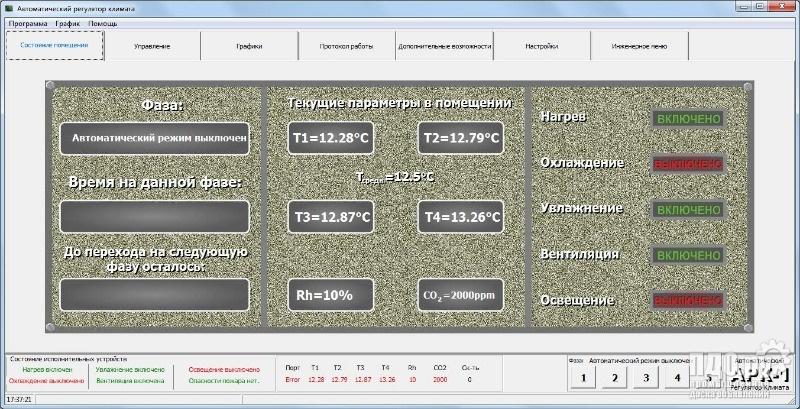 Автоматика управления климатом для выращивания грибов вешенок, шампиньонов и т.п.