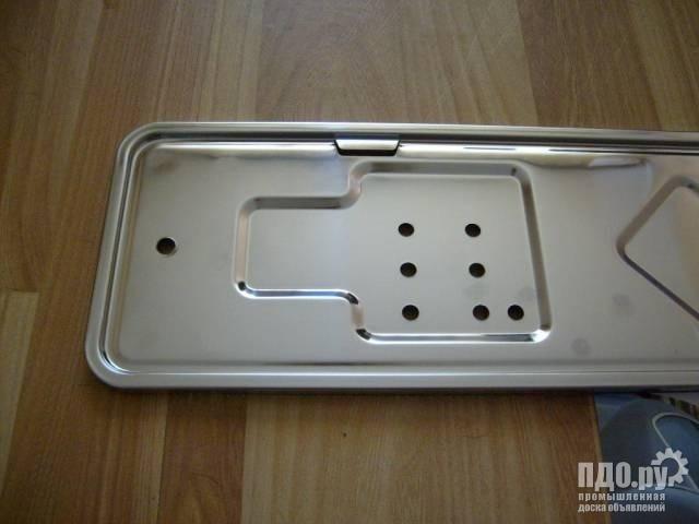 Рамка под номер из нержавеющей полированной стали для всех автомобилей