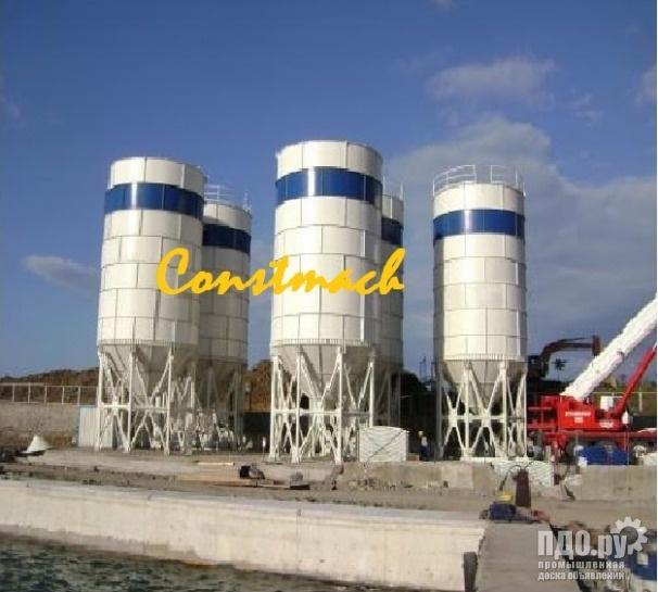 Constmach 300 тонн цементного силоса