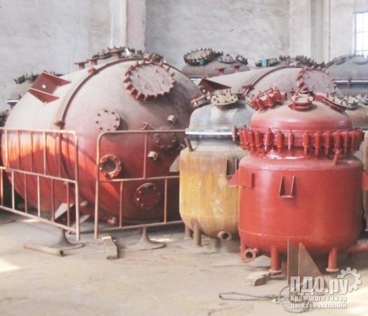 Химические эмалированные реакторы в ассортименте.