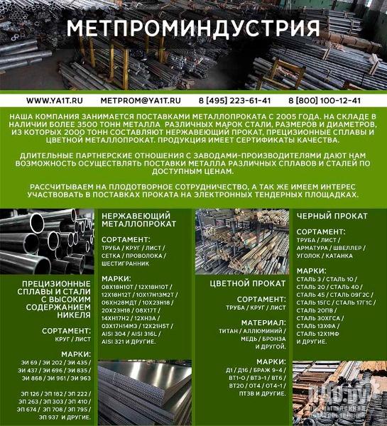 Продаем нержавеющий лист ХН50МВКТЮР 0,9х750х1700 со склада в Москве