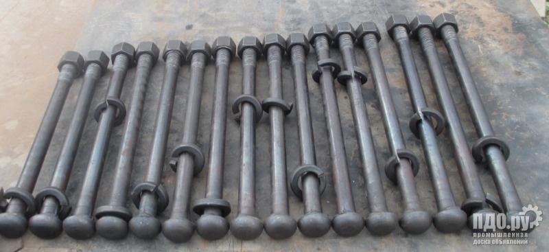 Болт контррельсовый стыковой 27х300, м27х320, м27х350, м27х380 на складе