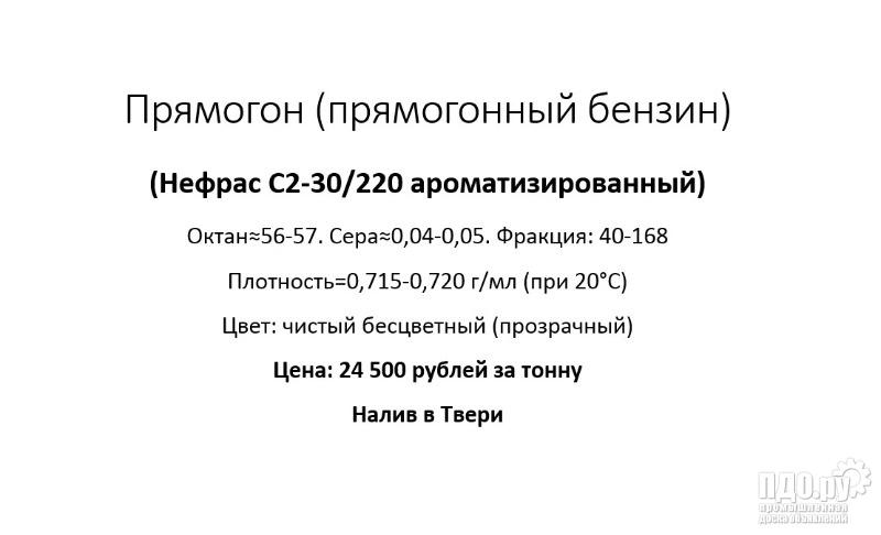Прямогон, прямогонный бензин, Нефрас С2-30/220