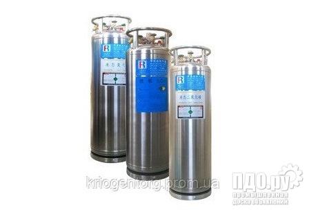 Криоцелиндр на 200 литров для хранения жидкого кислорода , азота, аргона и углекислоты.