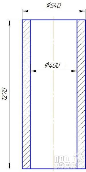 Труба толстостенная ф400х540 L1270мм