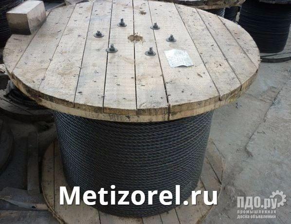 Канат стальной ГОСТ 3071-88 трос двойной свивки типа ТК