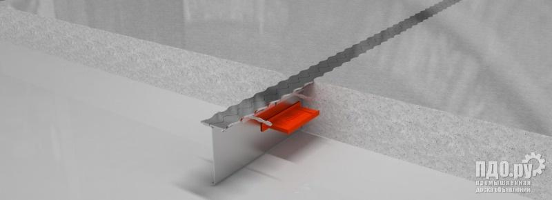 Деформационный шов. Закладная металлическая опалубка для бетонного пола