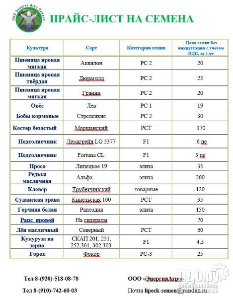 Семена Горчицы белой сорт Рапсодия элита 20 тонн, цена 95 рублей
