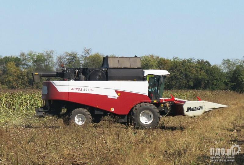 Услуги по уборке урожая зерновых комбайнами