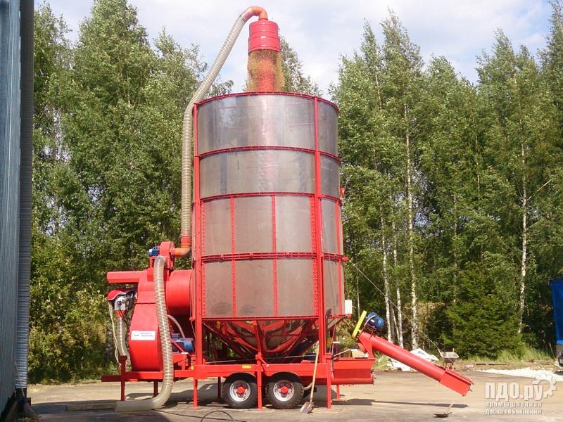 Просушим зерно дешево на месте Вашем хозяйстве